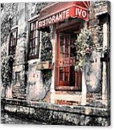 Ristorante On The Canal Acrylic Print by Greg Sharpe