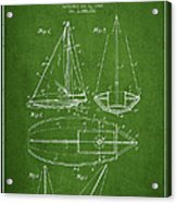Sailboat Patent Drawing From 1948 Acrylic Print by Aged Pixel