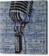Shure 55s On Music Acrylic Print by William Cauthern