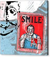 Smile Acrylic Print by Edward Fielding