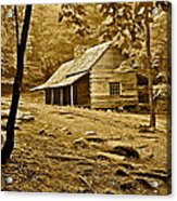 Smoky Mountain Cabin Acrylic Print by Frozen in Time Fine Art Photography