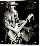 Stevie Ray Vaughan 1984 Acrylic Print by Chuck Spang