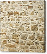 Stone Wall Acrylic Print by Matthias Hauser
