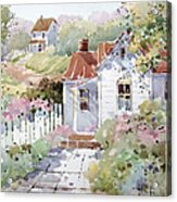 Summer Time Cottage Acrylic Print by Joyce Hicks