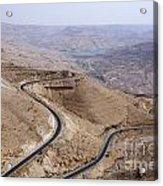 The Kings Highway At Wadi Mujib Jordan Acrylic Print by Robert Preston