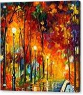 The Symphony Of Light Acrylic Print by Leonid Afremov