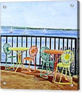 The Terrace View Acrylic Print by Thomas Kuchenbecker