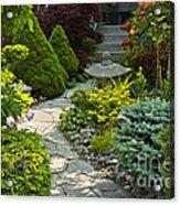 Tranquil Garden  Acrylic Print by Elena Elisseeva