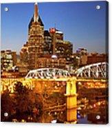Twilight Over Nashville Tennessee Acrylic Print by Brian Jannsen