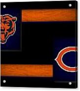 Chicago Bears Acrylic Print by Joe Hamilton