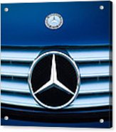 2003 Cl Mercedes Hood Ornament And Emblem Acrylic Print by Jill Reger