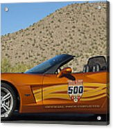 2007 Chevrolet Corvette Indy Pace Car Acrylic Print by Jill Reger
