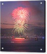 2014 4th Of July Firework Celebration.  Acrylic Print by Jason Choy