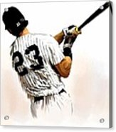 23   Don Mattingly  Acrylic Print by Iconic Images Art Gallery David Pucciarelli