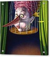 24th Annual Waxdeck's Bird Calling Contest Acrylic Print by Mark Fredrickson