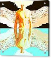 24x36 Reflective Angel Bb Acrylic Print by Dia T