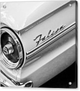 1963 Ford Falcon Futura Convertible Taillight Emblem Acrylic Print by Jill Reger
