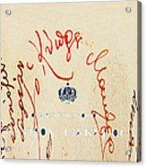 Archbishop Makarios  Autograph Acrylic Print by Augusta Stylianou