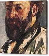Cezanne, Paul 1839-1906. Self-portrait Acrylic Print by Everett