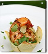 Chili Lime Shrimp Cups Acrylic Print by Anne Babineau