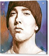 Eminem - Stylised Drawing Art Poster Acrylic Print by Kim Wang
