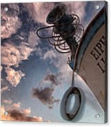 Greek Fishing Boat Acrylic Print by Stelios Kleanthous