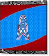 Houston Oilers Acrylic Print by Joe Hamilton