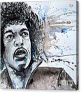 Jimi Hendrix  Acrylic Print by Ismeta Gruenwald