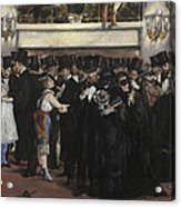Masked Ball At The Opera Acrylic Print by Edouard Manet