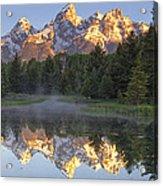 Morning Reflection Acrylic Print by Andrew Soundarajan