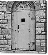 Route 66 - Macoupin County Jail Acrylic Print by Frank Romeo