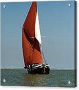 Sailing Barge Acrylic Print by Gary Eason