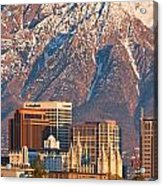 Salt Lake City Skyline Acrylic Print by Utah Images