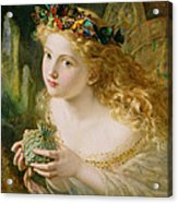 Take The Fair Face Of Woman Acrylic Print by Sophie Anderson