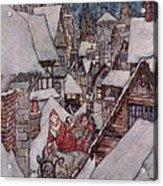 'the Night Before Christmas Acrylic Print by Arthur Rackham