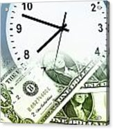 Time Is Money Concept Acrylic Print by Les Cunliffe