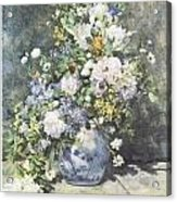 Vase Of Flowers Acrylic Print by Pierre-Auguste Renoir