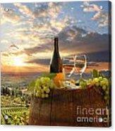 Vine Landscape In Chianti Italy Acrylic Print by Tomas Marek