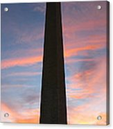 Washington Monument Acrylic Print by Olivier Le Queinec