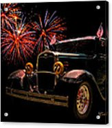 31 Five Window Coupe On The Fourth Of July Acrylic Print by Chas Sinklier