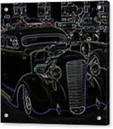 35 Ford Coupe Neon Glow Acrylic Print by Steve McKinzie