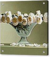 39 Roses Acrylic Print by Mark Van crombrugge