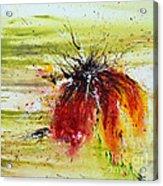 Abstract Flower Acrylic Print by Ismeta Gruenwald