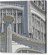 Bahai Temple Wilmette Acrylic Print by Rudy Umans