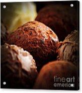 Chocolate Truffles Acrylic Print by Elena Elisseeva