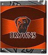 Cleveland Browns Acrylic Print by Joe Hamilton
