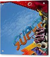 Colorful Fairground Ride Acrylic Print by Ken Biggs