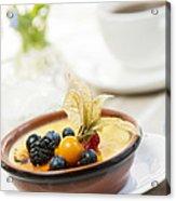 Creme Brulee Dessert Acrylic Print by Elena Elisseeva