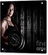 Fitness Model Acrylic Print by Jt PhotoDesign