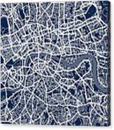 London England Street Map Acrylic Print by Michael Tompsett